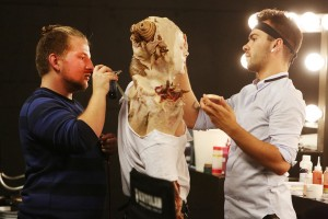 """FACE OFF --  """"Foreign Bodies"""" Episode 1005 --  Pictured: (l-r) Rob Seal, Kaleb  Lewis  -- (Photo by: Jordin Althaus/Syfy)"""
