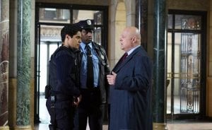 "GOTHAM: Michael Chiklis (R) in the ""Wrath of the Villains: Mad Grey Dawn"" episode of GOTHAM airing Monday, March 21 (8:00-9:01 PM ET/PT) on FOX. ©2016 Fox Broadcasting Co. Cr: Nicole Rivelli/FOX"