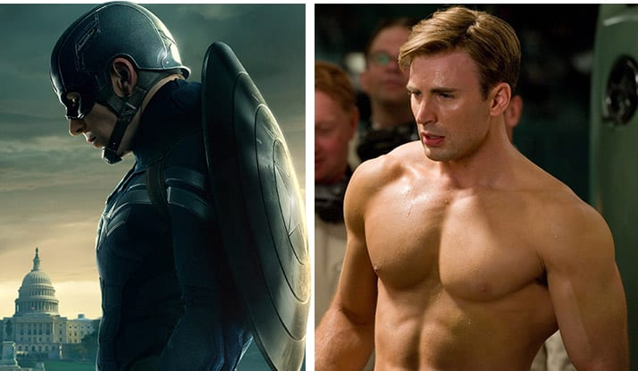That chris evans captain america body