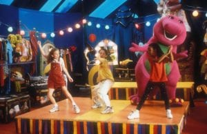 BARNEY'S GREAT ADVENTURE, (aka BARNEY'S GREAT ADVENTURE: THE MOVIE), Diana Rice, Trevor Morgan, Kyla Pratt, Barney, 1998. ©Polygram Filmed Entertainment