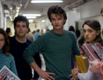 Carol (Chelsea Talmadge), Tommy H. (Chester Rushing), Steve Harrington (Joe Keery), Nancy Wheeler (Natalia Dyer) and Barbara Holland (Shannon Purser) in Stranger Things Photo credit: Netflix/Stranger Things