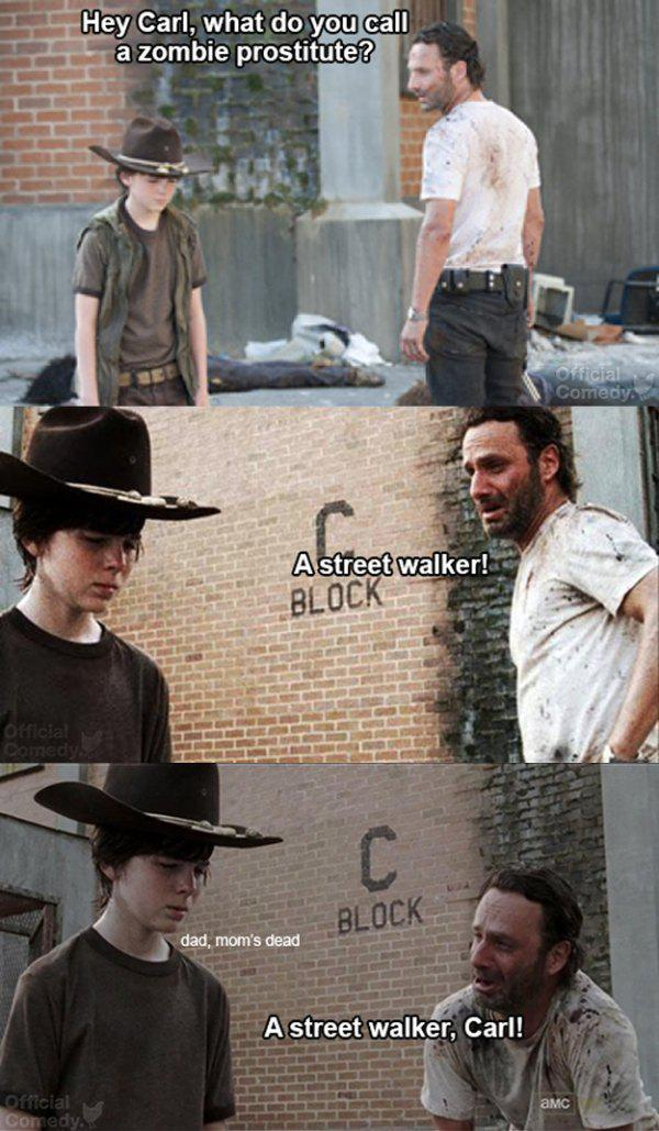 prostittuememe 12 days of twd 9 of our favorite rick and carl memes fan fest
