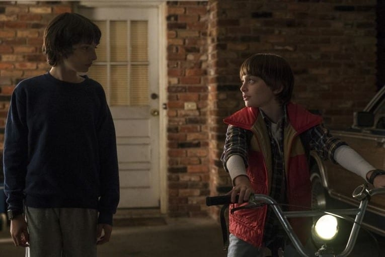 Mike Wheeler (Finn Wolfard) and Will Byers (Noah Schnapp) in Stranger Things Photo credit: Netflix/Stranger Things