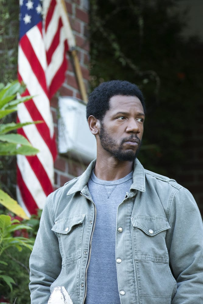 "COLONY -- ""Preoccupation"" Episode 201 -- Pictured: Tory Kittles as Broussard -- (Photo by: Isabella Vosmikova/USA Network)"