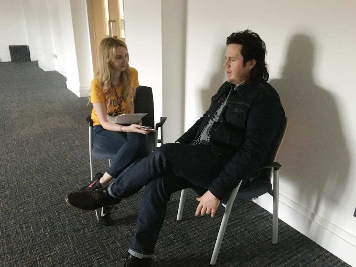 Emma Loggins interviewing Josh McDermitt