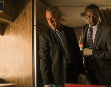 """Bosch: Season 3"" - (L to R) Titus Welliver as Harry Bosch, Jamie Hector as Jerry Edgar"