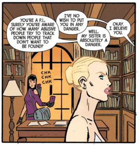 Image taken from Hawkeye #5, Property of Marvel