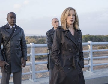 "COLONY -- ""Ronin"" Episode 213 -- Pictured: Ally Walker as Helena -- (Photo by: Jack Zeman/USA Network)"