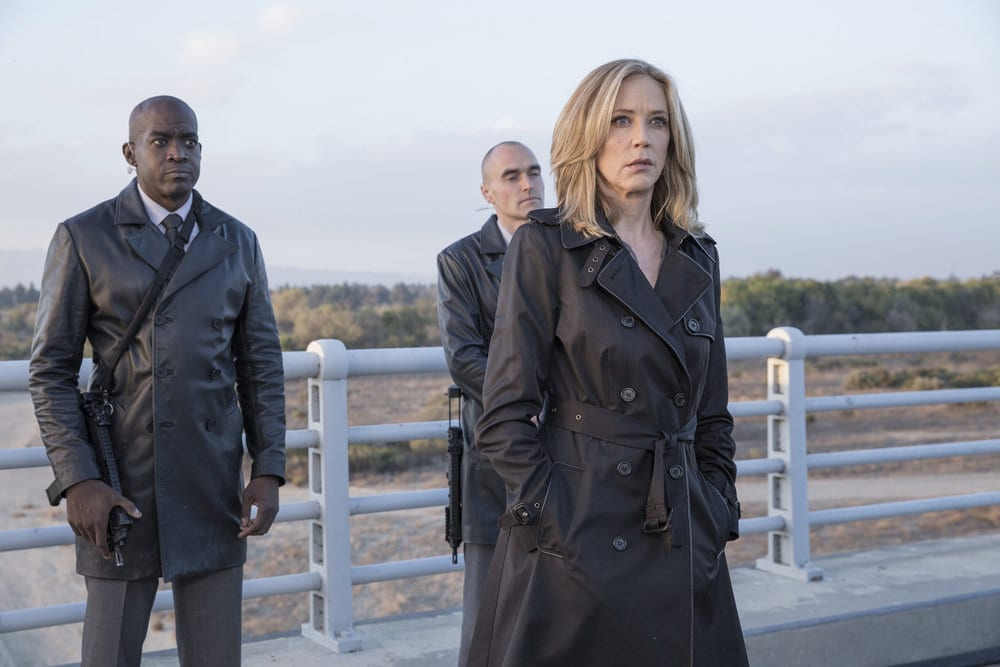 """COLONY -- """"Ronin"""" Episode 213 -- Pictured: Ally Walker as Helena -- (Photo by: Jack Zeman/USA Network)"""