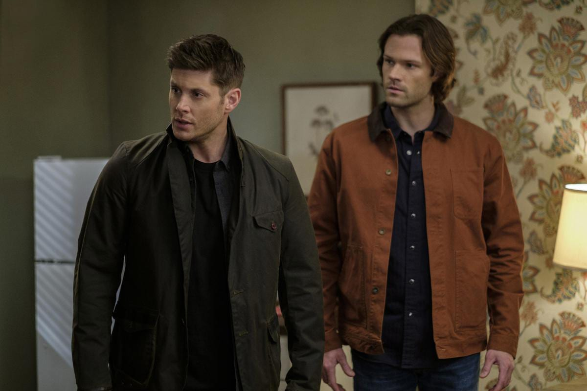 Jensen Ackles as Dean Winchester and Jared Padalecki as Sam Winchester, Supernatural 12x19