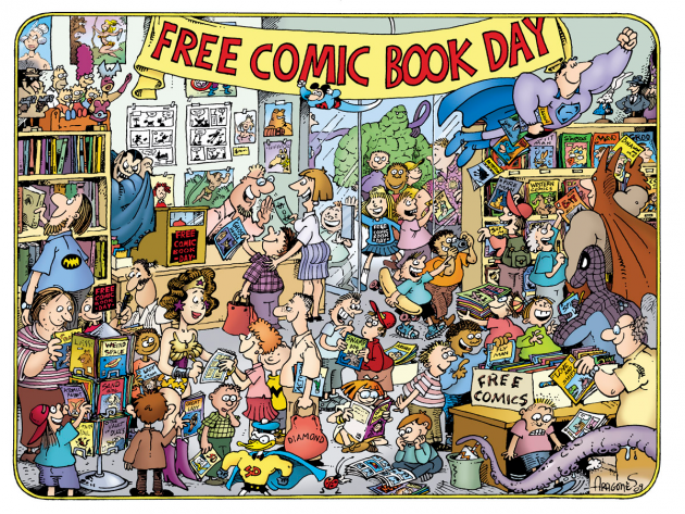 wizard world supports comic book shops on free comic book day fan