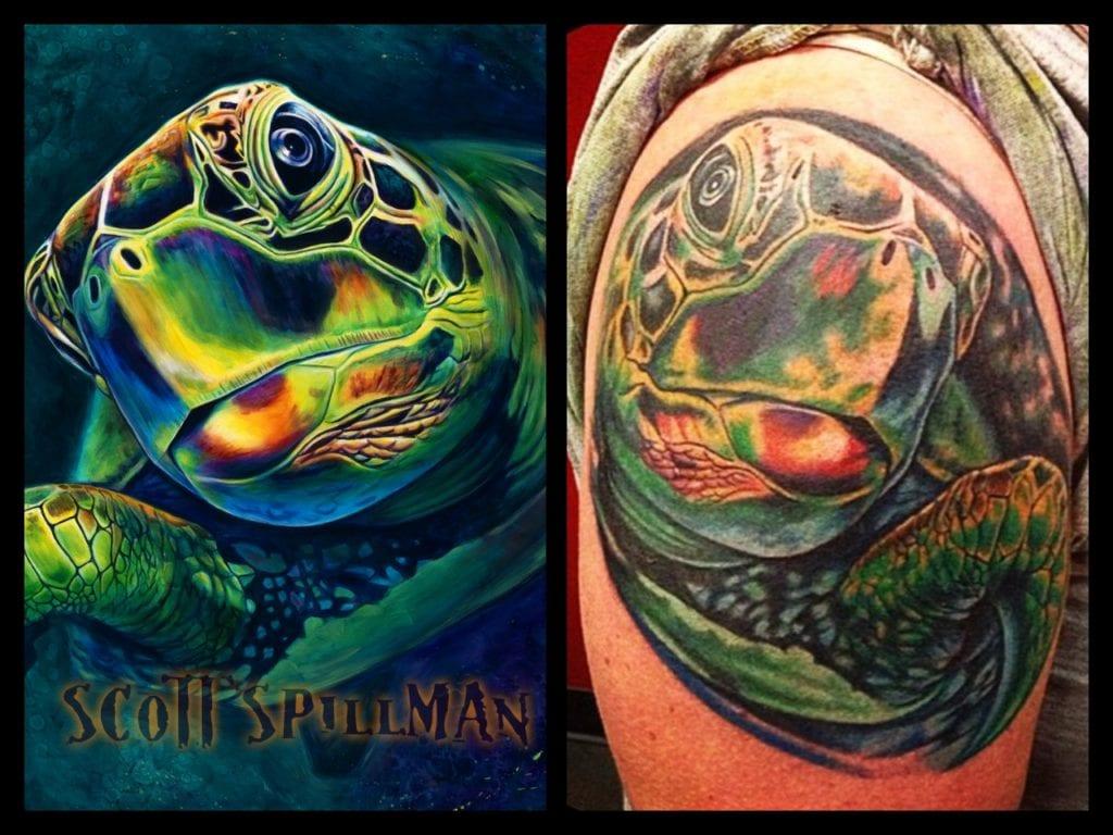 Scott Spillman, Sea Life, Tattoo