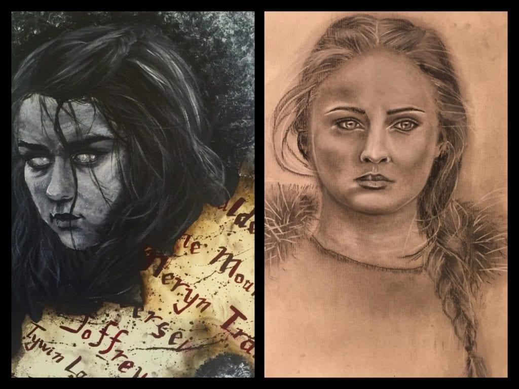 Game of Thrones, Arya Stark, Sansa Stark