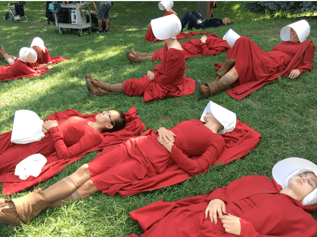 Behind the scenes from Hulu's The Handmaid's Tale Photo credit: Ane Crabtree