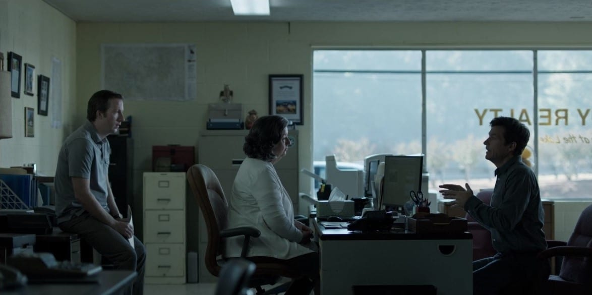 Sam Dermody (Kevin L. Johnson), Eugenia Dermody (Sharon Blackwood) and Marty Byrde (Jason Bateman) in Ozark season 1 episode 7 'Nest Box' Screen capture credit: Netflix