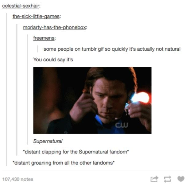 20 times tumblr understood your �supernatural� obsession