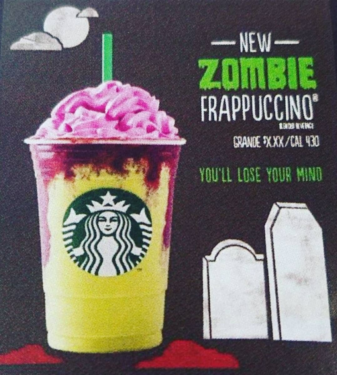 starbucks is releasing a zombie frappuccino just in time for