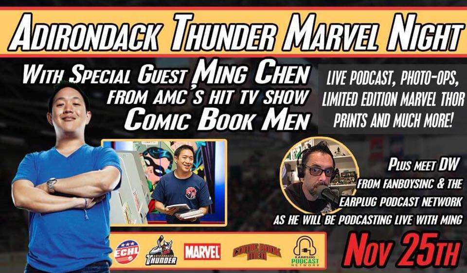 Ming Chen, Comic Book Men, Adirondack Thinder, Marvel, Earplug Podcast