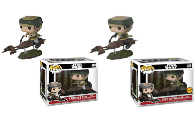 Star Wars: Return of the Jedi' Leia on Speeder Bike Funko Pop ...