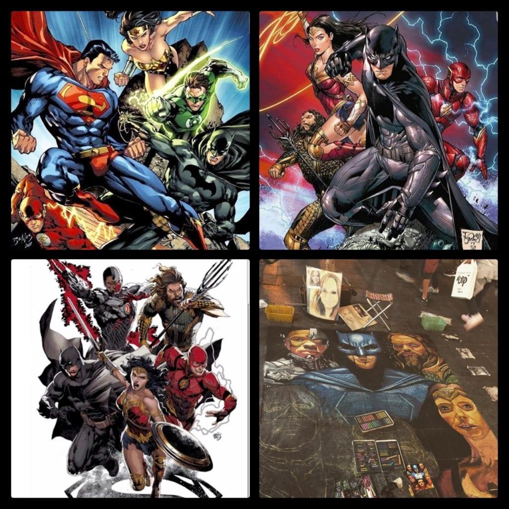 Justice League, Batman, Wonder Woman, Aquaman, Superman, Flash