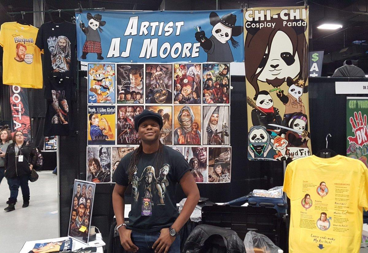 AJ Moore, Walker Stalker Con