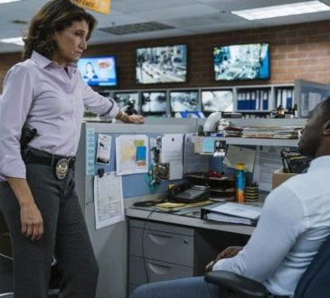 """""""Bosch: Season 4"""" - Amy Aquino and Jamie Hector in Season 4 of Bosch."""