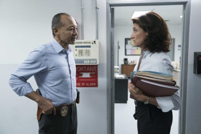 """Bosch: Season 4"" - Amy Aquino and Paul Calderón in Season 4 of Bosch."