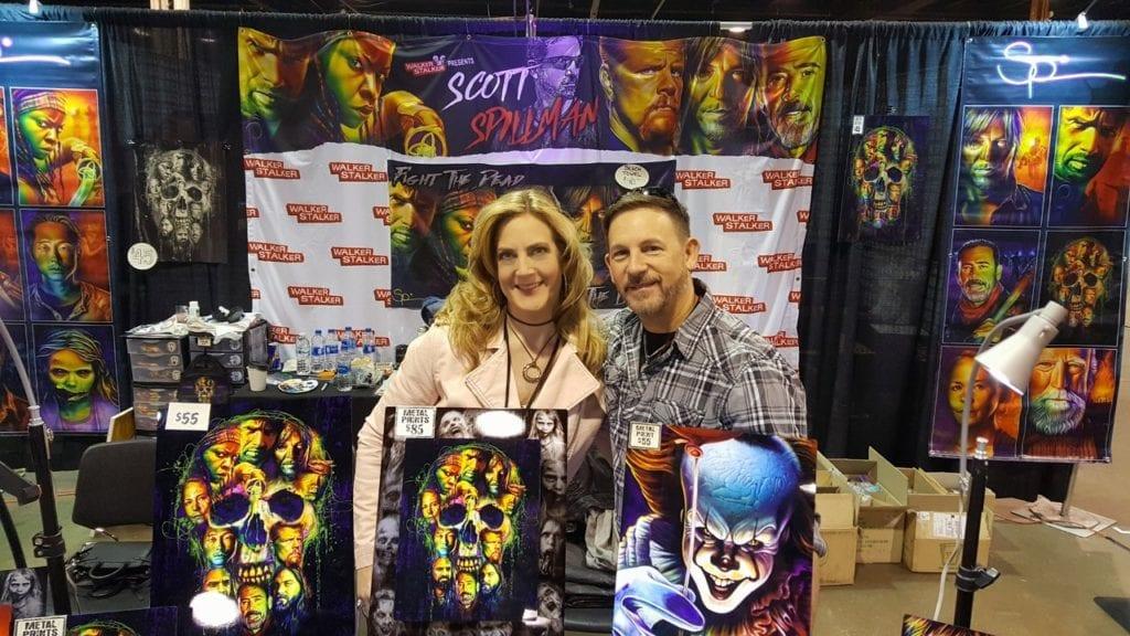 Walker Stalker Con,Heroes and Villains Fan Fest, Scott Spillman, Linda Marie