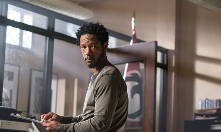 """COLONY -- """"Puzzle Man"""" Episode 302 -- Pictured: Tory Kittles as Broussard -- (Photo by: Daniel Power/USA Network)"""