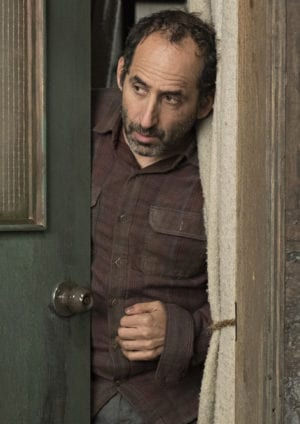 "COLONY -- ""Hospitum"" Episode 304 -- Pictured: Peter Jacobson as Proxy Alan Snyder -- (Photo by: Eric Milner/USA Network)"