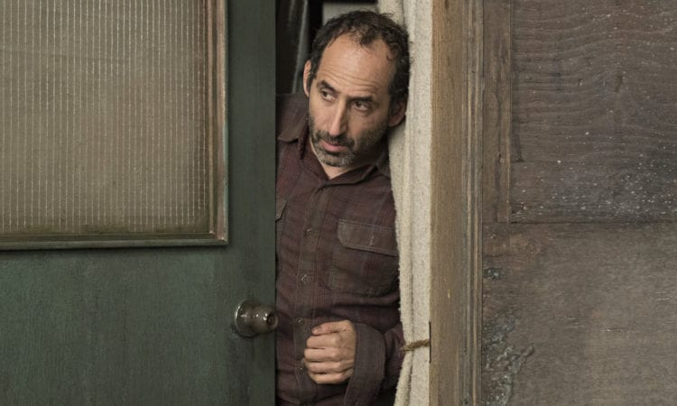"""COLONY -- """"Hospitum"""" Episode 304 -- Pictured: Peter Jacobson as Proxy Alan Snyder -- (Photo by: Eric Milner/USA Network)"""