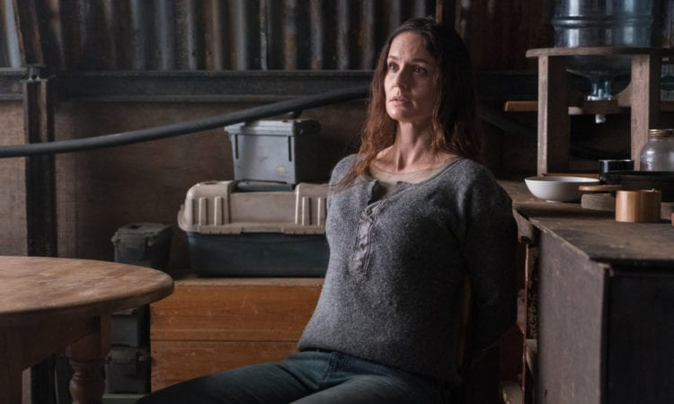 "COLONY -- ""End of the Road"" Episode 305 -- Pictured: Sarah Wayne Callies as Katie Bowman -- (Photo by: Daniel Power/USA Network)"
