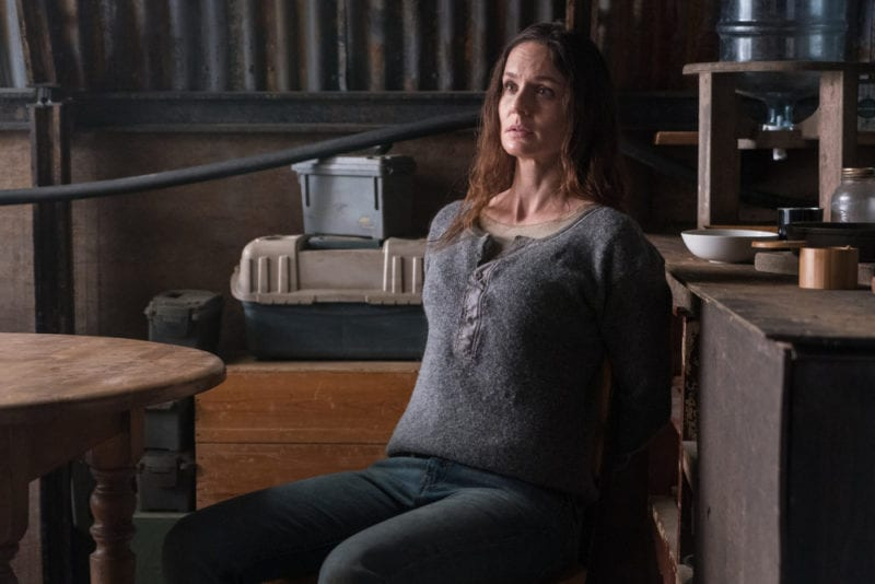 """COLONY -- """"End of the Road"""" Episode 305 -- Pictured: Sarah Wayne Callies as Katie Bowman -- (Photo by: Daniel Power/USA Network)"""
