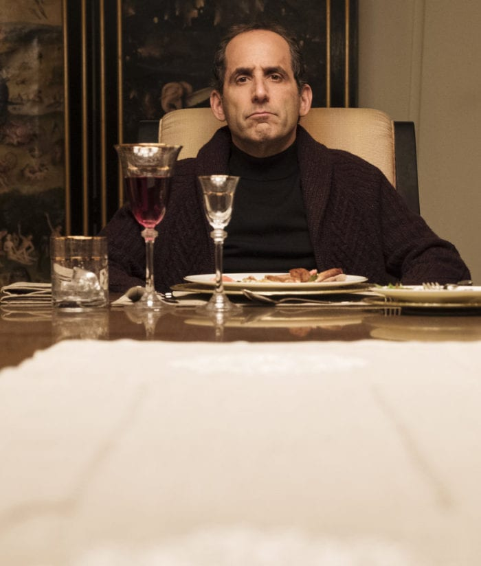 """COLONY -- """"The Emerald City"""" Episode 306 -- Pictured: Peter Jacobson as Proxy Alan Snyder -- (Photo by: Eric Milner/USA Network)"""