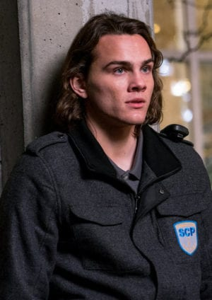 """COLONY -- """"The Big Empty"""" Episode 309 -- Pictured: Alex Neustaedter as Bram Bowman -- (Photo by: Daniel Power/USA Network)"""