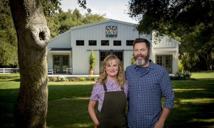 watch making it stars amy poehler and nick offerman engage in a crafty pun off fan fest. Black Bedroom Furniture Sets. Home Design Ideas