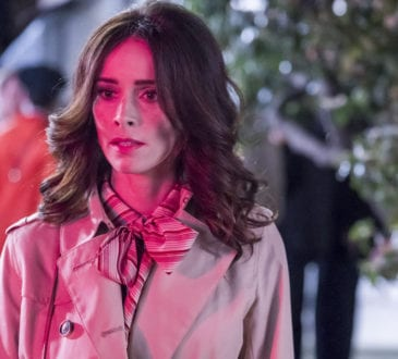 """TIMELESS -- """"The Day Reagan Was Shot"""" Episode 208 -- Pictured: Abigail Spencer as Lucy Preston --"""