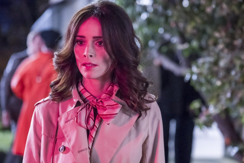 "TIMELESS -- ""The Day Reagan Was Shot"" Episode 208 -- Pictured: Abigail Spencer as Lucy Preston --"