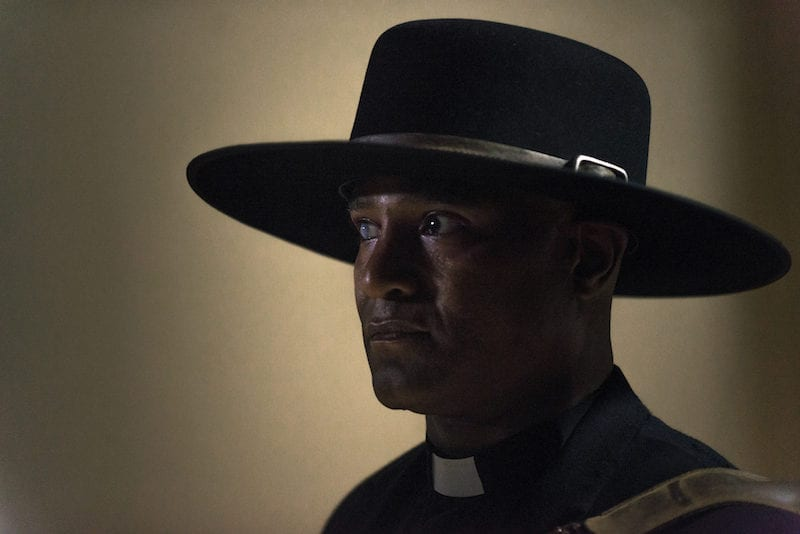 Seth Gilliam as Father Gabriel Stokes- The Walking Dead _ Season 9, Episode 1 -