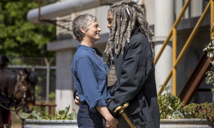 Khary Payton as Ezekiel, Melissa McBride as Carol Peletier - The Walking Dead _ Season 9, Episode 1 -