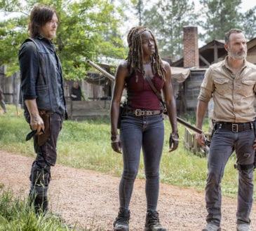 Norman Reedus as Daryl Dixon, Andrew Lincoln as Rick Grimes, Danai Gurira as Michonne- The Walking Dead _ Season 9, Episode 1 -