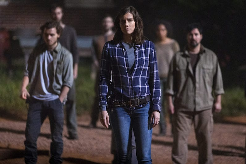 Callan McAuliffe as Alden, Lauren Cohan as Maggie Rhee - The Walking Dead _ Season 9, Episode 1 -