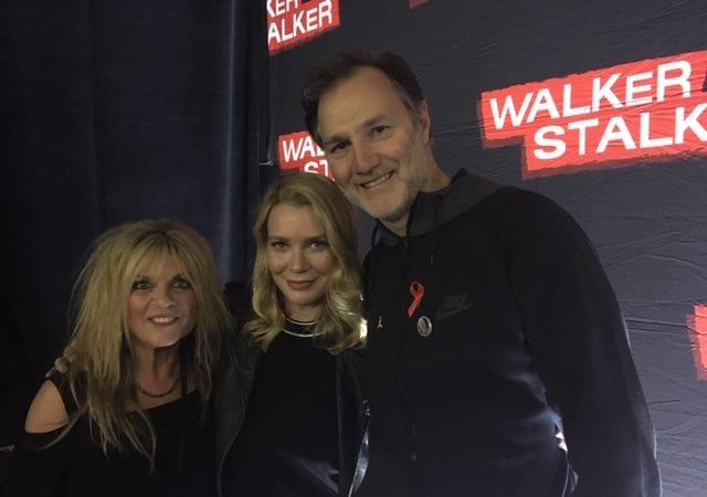 Lisa Manning, Laurie Holden and David Morrissey photo credit: Tracey Phillipps/Fan Fest
