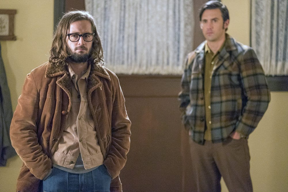 "THIS IS US -- ""Vietnam"" Episode 305 -- Pictured: (l-r) Michael Angarano as Nicky, Milo Ventimiglia as Jack Pearson --"