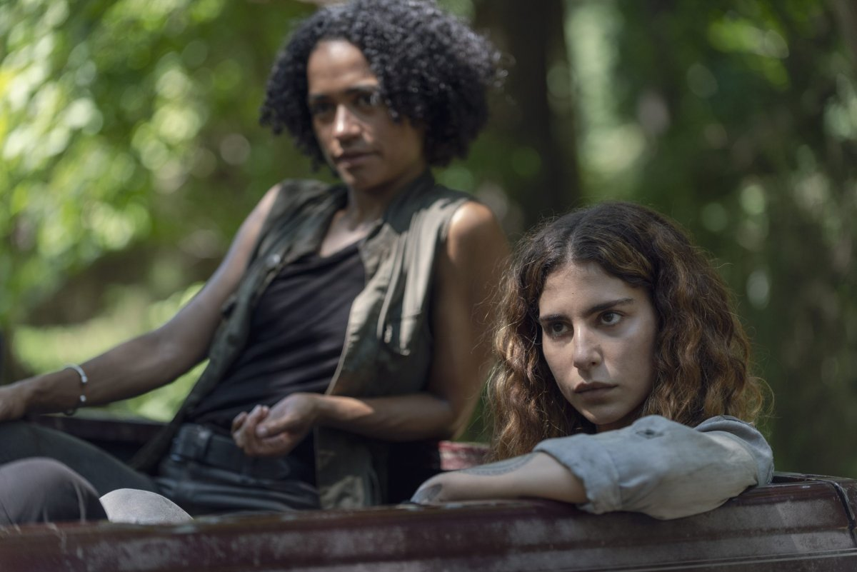 Lauren Ridloff as Connie, Nadia Hilker as Magna - The Walking Dead _ Season 9, Episode 7 -