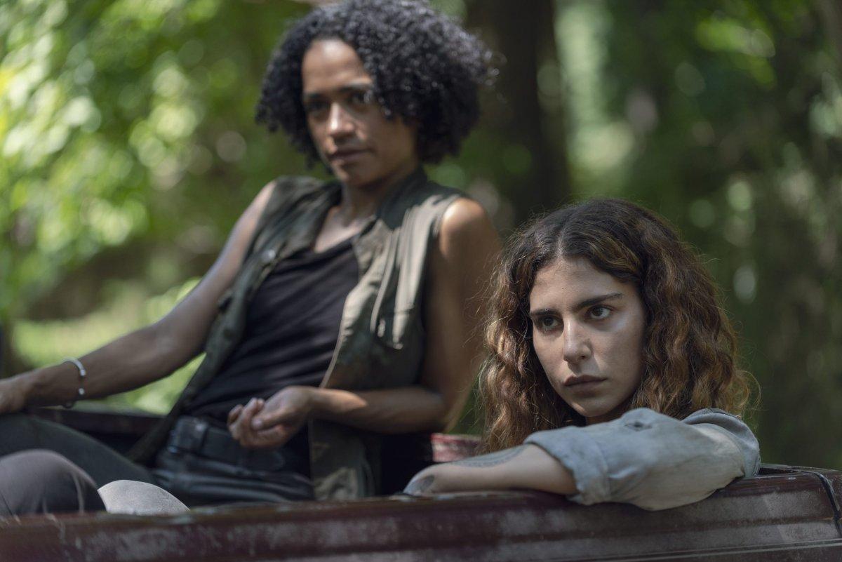 Lauren Ridloff as Connie, Nadia Hilker as Magna- The Walking Dead _ Season 9, Episode 7 -