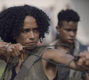 Lauren Ridloff as Connie, Angel Theory as Kelly- The Walking Dead _ Season 9, Episode 7 -