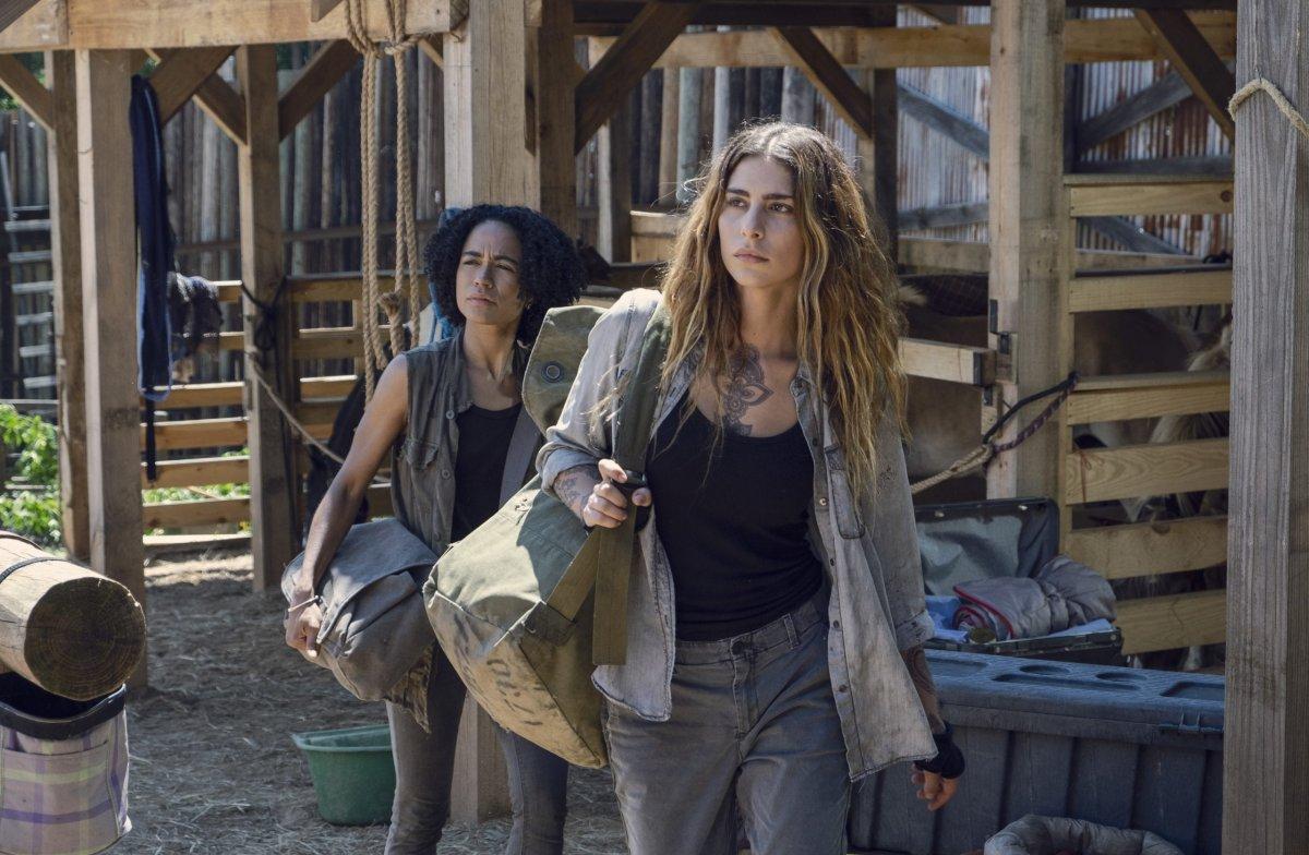 Lauren Ridloff as Connie, Nadia Hilker as Magna- The Walking Dead _ Season 9, Episode 8 -