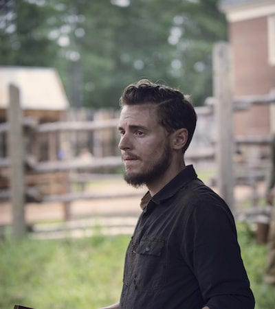 Callan McAuliffe as Alden - The Walking Dead _ Season 9, Episode 8 -