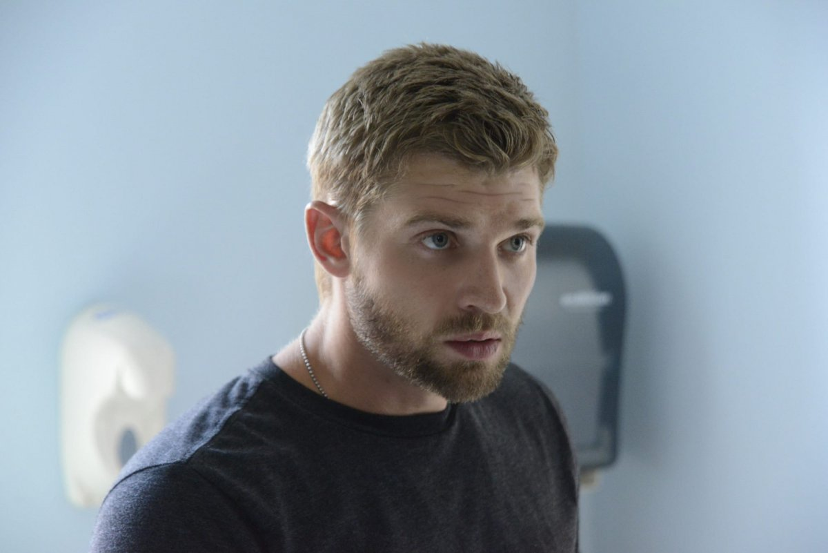 """""""Speak of the Devil"""" --Barbie (Mike Vogel) brings Julia to the clinic when she is wounded on UNDER THE DOME, Monday, Sept. 2 (10:00-11:00 PM, ET/PT) on the CBS Television Network."""